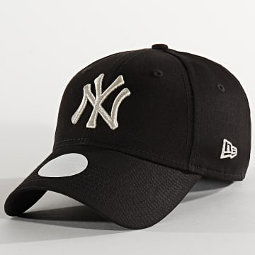 New Era - Casquette Femme 9Forty Metallic 12285203 New York Yankees Noir Argenté