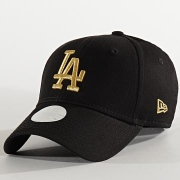 Casquette Femme 9Forty Metallic 12285205 Los Angeles Dodgers Noir Doré