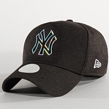 New Era - Casquette Femme Iridescent 12285216 New York Yankees Noir Chiné Iridescent