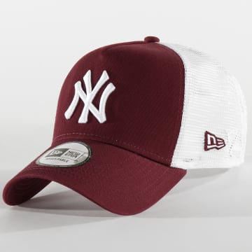 Casquette Trucker Essential A Frame 12285470 New York Yankees Bordeaux Blanc