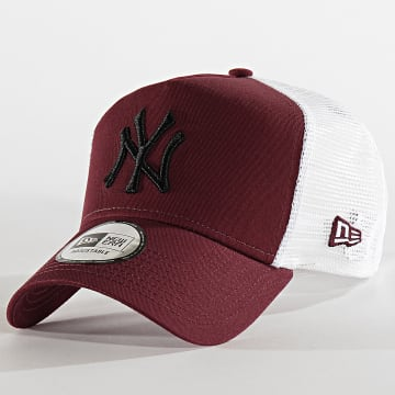 New Era - Casquette Trucker Essential AF New York Yankees 12285468 Bordeaux Blanc