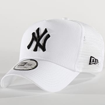 New Era - Casquette Trucker Essential A Frame 12285467 New York Yankees Blanc Noir