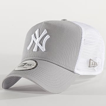 Casquette Trucker Essential A Frame 12285469 New York Yankees Gris Blanc