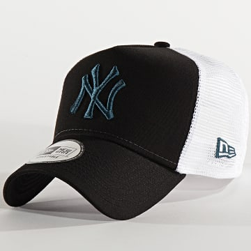 Casquette Trucker Essential A Frame 12285471 New York Yankees Noir Turquoise