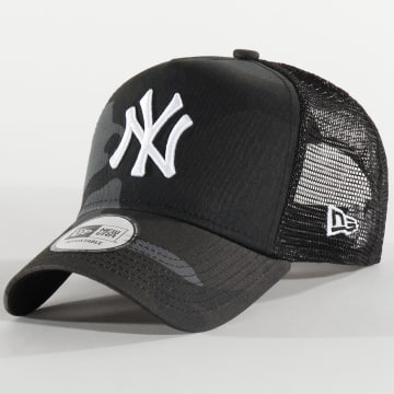 New Era - Casquette Trucker Essential A Frame 12285470 New York Yankees Noir Camouflage