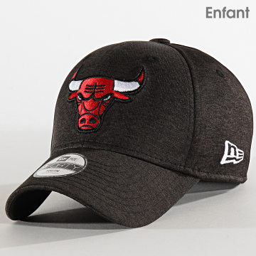 New Era - Casquette Enfant 9Forty Shadow Tech 12301138 Chicago Bulls Gris Anthracite Chiné