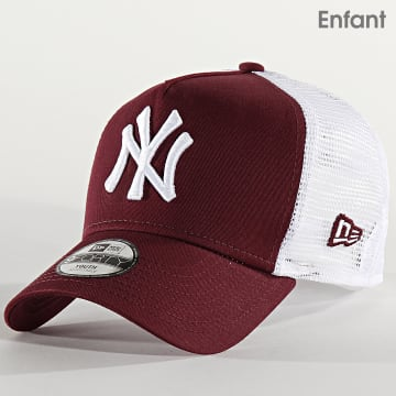 New Era - Casquette Trucker Enfant League Essential 12301166 New York Yankees Bordeaux