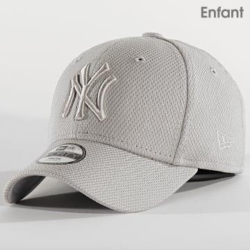 New Era - Casquette Enfant 9Forty Diamond Era 12301195 New York Yankees Gris