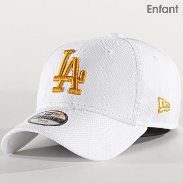 New Era - Casquette Enfant 9Forty Diamond Era 12301197 Los Angeles Dodgers Blanc