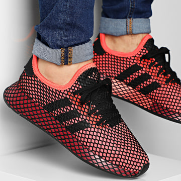 Adidas Originals - Baskets Deerupt Runner EE5661 Solar Red Core Black Burgundy