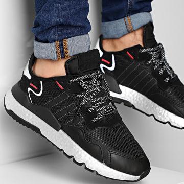 Adidas Originals - Baskets Nite Jogger FV4137 Core Black Shock Red Silver Metallic
