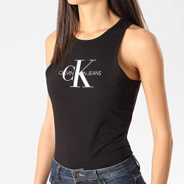Calvin Klein - Débardeur Slim Femme Monogram 3050 Noir