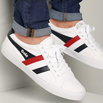 Gola - Baskets Varsity CMA331 White Navy Red