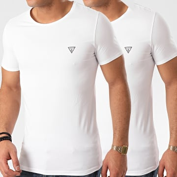 Lot De 2 Tee Shirts Slim U97G02-JR003 Blanc