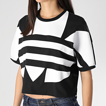 Tee Shirt Femme Large Logo FM2562 Noir