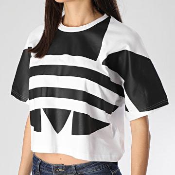 Tee Shirt Femme Large Logo FM2564 Blanc
