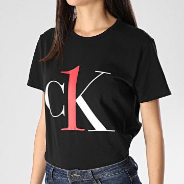 Tee Shirt Slim Femme QS6436E Noir