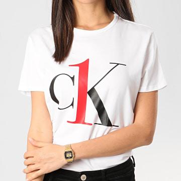 Calvin Klein - Tee Shirt Slim Femme QS6436E Blanc