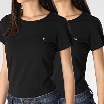 Lot De 2 Tee Shirt Femme QS6442E Noir