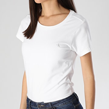 Lot De 2 Tee Shirts Femme QS6442E Blanc