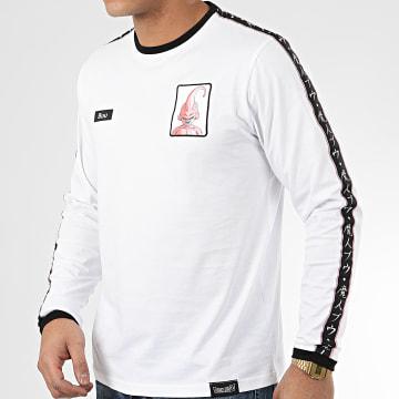 Dragon Ball Z - Tee Shirt Manches Longues A Bandes Buu Blanc