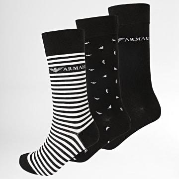 Emporio Armani - Lot De 3 Paires De Chaussettes 302402 Noir