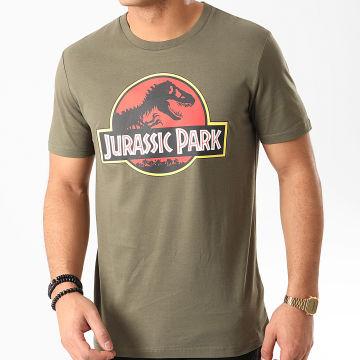 Jurassic Park - Tee Shirt Jurassic Park Original Logo Vert Kaki