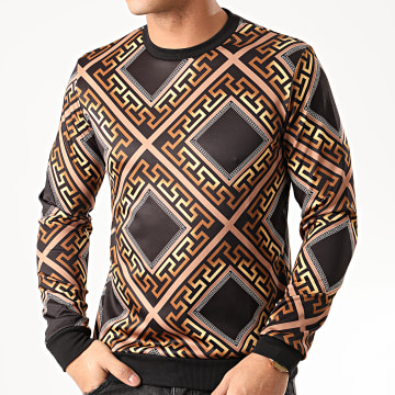 MTX - Sweat Crewneck TM0273 Noir Marron