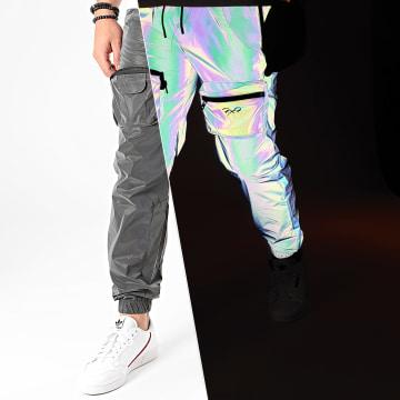 Project X - Pantalon Jogging Réfléchissant Iridescent 2040073 Gris Anthracite