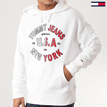 Tommy Jeans - Sweat Capuche Arched Graphic 7885 Blanc
