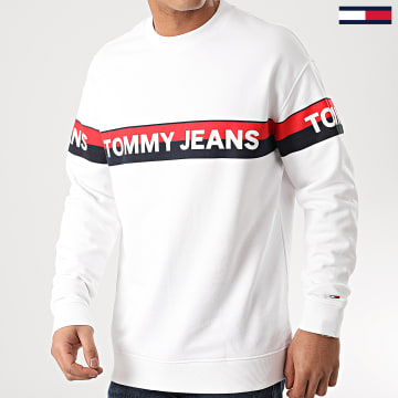 Tommy Jeans - Sweat Crewneck Band Logo 7894 Blanc