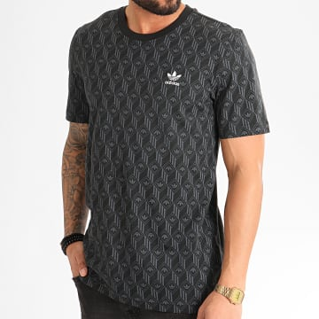 Tee Shirt Mono All Over Print FM3423 Noir