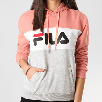 Sweat Capuche Femme Lori Tricolore Rose Gris Chiné