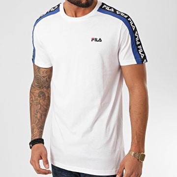 Fila - Tee Shirt A Bandes Thanos 687700 Blanc