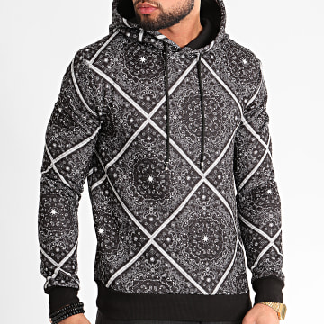 MTX - Sweat Capuche TM0239 Noir Paisley