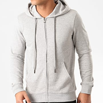 MTX - Sweat Capuche Zippé Q090 Gris Chiné