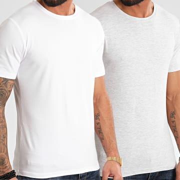 MTX - Lot De 2 Tee Shirts Tank Blanc Gris Chiné