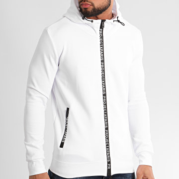 Project X - Sweat Zippé Capuche 2030064 Blanc
