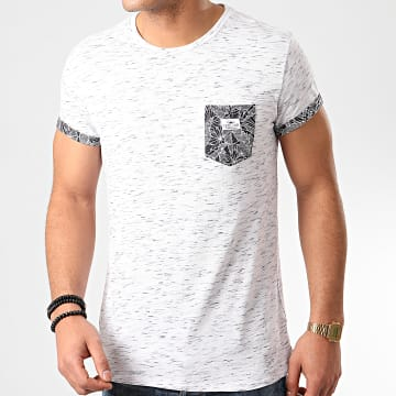 Deeluxe - Tee Shirt Poche Nata Blanc Chiné