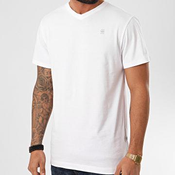 G-Star - Tee Shirt Col V Base-S D16412-336 Blanc