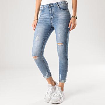 Jean Skinny Femme 570 Bleu Denim