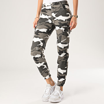 Girls Only - Jogger Pant Jean Femme DZ330 Gris Anthracite Camouflage