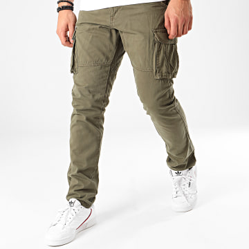 Indicode Jeans - Pantalon Cargo William Vert Kaki