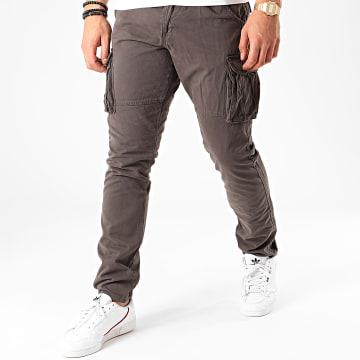 Indicode Jeans - Pantalon Cargo William Gris Anthracite