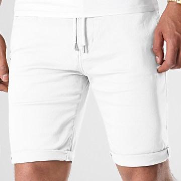 LBO - Short Chino Jogger 988 Blanc