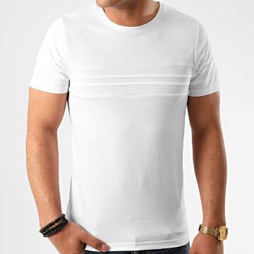 LBO - Tee Shirt Avec Empiecement 1031 Blanc