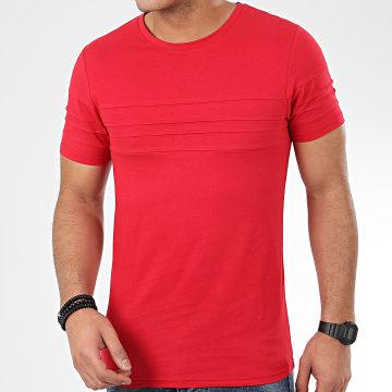 LBO - Tee Shirt Avec Empiecement 1033 Rouge