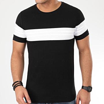LBO - Tee Shirt Avec Empiecement Blanc 1037 Noir