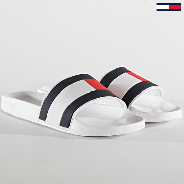Tommy Hilfiger - Claquettes Essential Flag Pool 2327 White