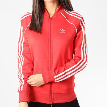 Adidas Originals - Veste Zippée Femme A Bandes FM3313 Rouge